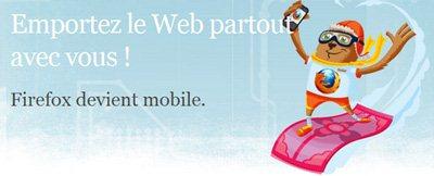 FireFox Mobile est disponible chez Mozilla