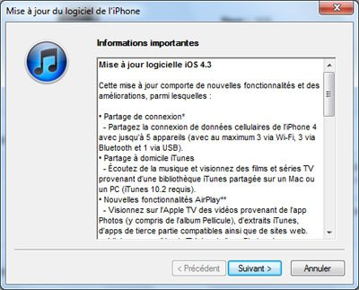 La version 4.3 de iOS est officiellement disponible
