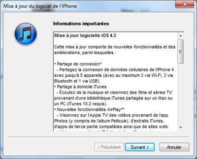 La version 4.3 de iOS est officiellement disponible