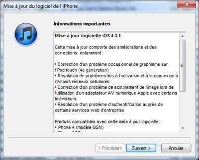 iOS 4.3.1 est déjà jailbreaké !