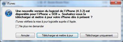La version 4.3.2 de iOS est en ligne