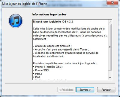 La version 4.3.3 de iOS est disponible !