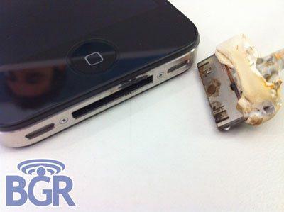 iPhone 4 : le connecteur dock a fondu