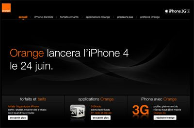 Orange confirme l'arrivée de l'iPhone 4 le 24 juin (maj)