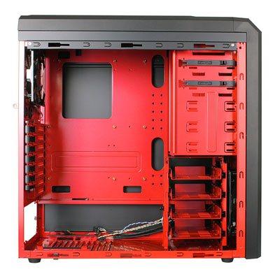 un boitier rouge et noir le k62 red dragon de lancool bhmag. Black Bedroom Furniture Sets. Home Design Ideas