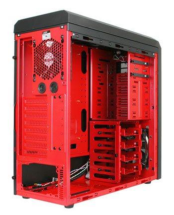 Un boitier rouge et noir : le K62 RED Dragon de LanCool