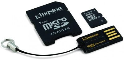 Une carte microSDHC 32 Go chez Kingston