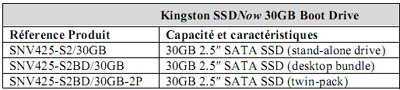 Kingston V-Series 30Go : plus d'infos …