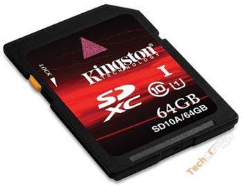 Kingston : une carte mémoire SDXC à 488 euros