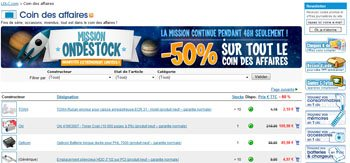 Soldes : 50% de remise sur le Coin des Affaires de LDLC