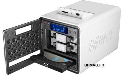 LG N2B1 : un NAS haut de gamme : 2To, graveur Blu-ray, lecteur de cartes mémoires
