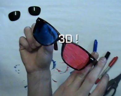 Activité manuelle : Comment se fabriquer une paire de lunettes 3D ?