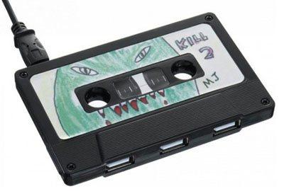 Insolite : des hubs usb en forme de K7 audio