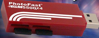 PhotoFast GM5500X4 : mi lecteur de cartes, mi clé usb