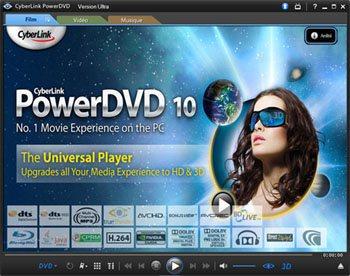 La version d'évaluation de PowerDVD 10 est sortie