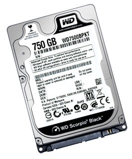 Western Digital décline son Scorpio Black dans une version 750 Go