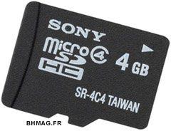 Des cartes SDHC débarquent chez Sony