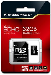 Une microSDHC de 32 Go chez Silicon Power