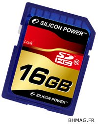Des cartes SDHC de class 10 chez Silicon Power