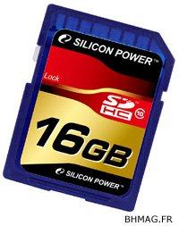 Des cartes SDHC de class 10 chez Silicon Power