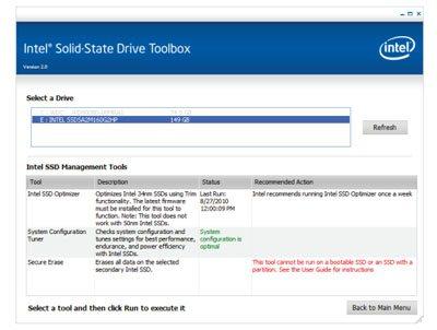 Intel dévoile la version 2.0 de SSD Toolbox