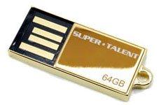 Une clé usb de 64 Go plaquée or