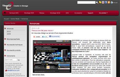 Un site et un forum en français pour Thecus