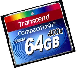Une Compact Flash 400x de 64Go chez Transcend