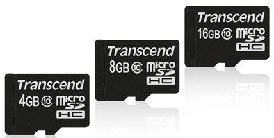 Transcend sort des cartes microSDHC de classe 10