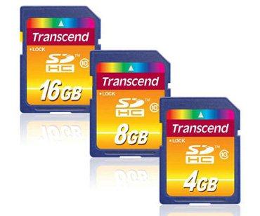 Des cartes SDHC de class 10 chez Transcend