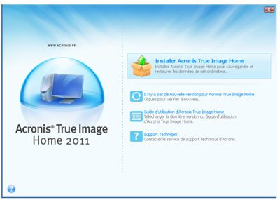 Acronis sort la version 2011 de True Image