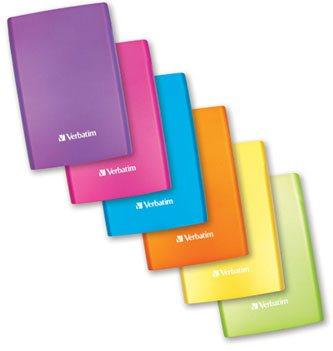 Des couleurs flashy pour le disque dur USB 3.0 de Verbatim !
