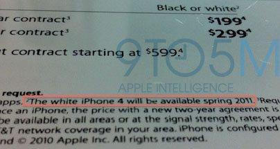 L'iPhone 4 blanc fait à nouveau parler de lui