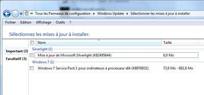 Le SP1 de Windows 7 est arrivé sur WindowsUpdate