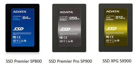 AData dévoile trois nouveaux SSD SandForce