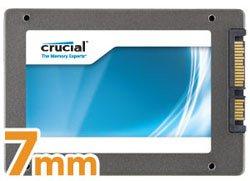 Plus fin, le nouveau SSD Crucial m4 mesure 7 mm d'épaisseur