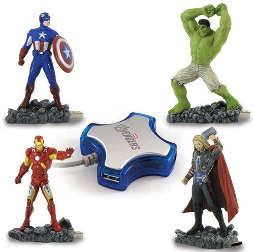 Voici les clés usb Marvel Avengers : Hulk, Captain America, Thor et Iron Man