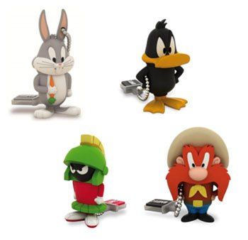 Daffy Duck, Bugs Bunny, Sam le Pirate et Marvin le Martien