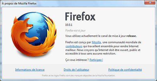 FireFox 10.0.1 : stabilité et sécurité améliorées…