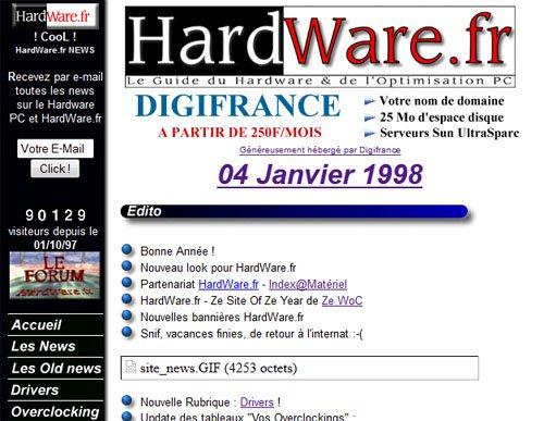 Nostalgie : HardWare.fr a 15 ans …