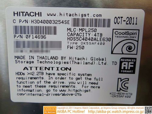 HDD Hitachi 4 To
