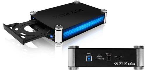 Icy Box IB-550StU3S : un boitier USB 3.0 pour graveur DVD et Blu-ray