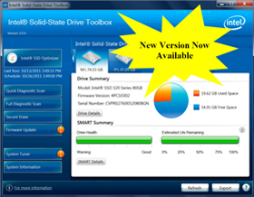 Intel sort la version 3.1.9 de ses utilitaires SSD ToolBox