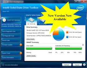 Les SSD Toolbox d'Intel passent en version 3.2.3 et prennent en charge le SSD Pro 2500