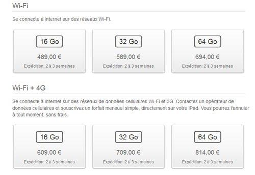 L'iPad 3 est déjà en rupture de stock, les délais de livraison s'allongent…