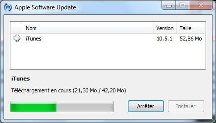 La version 10.5.1 d'iTunes est disponible …