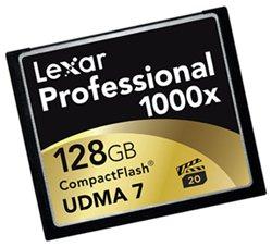 Une Compact Flash 1000 X chez Lexar : 150 Mo/s rien que ça …