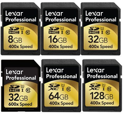 Des cartes SDHC/SDXC 400x et 600x chez Lexar