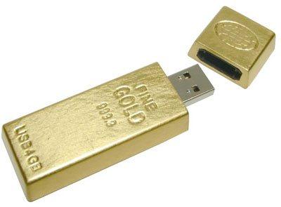 Frimez en société avec une clé usb en lingot d'or