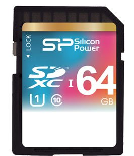 Silicon Power sort une carte SDXC de 64 Go